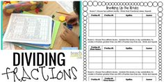 Dividing Fractions Game - Teach Junkie