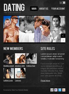 Dating Agency Turnkey CMS Facebook Templates by Cowboy