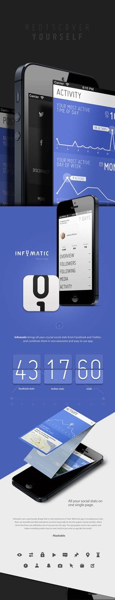 Infomatic - Social Stats in one App - Design and Development by Saturized