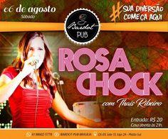 #VEJA Bardot Pub: Banda Rosa Chock com Thaís Ribeiro #agenda @paroutudo via ParouTudo http://ift.tt/2aus9Jh #Raynniere #Makepeace