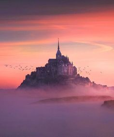 Nothing more spectacular than Mont Saint-Michel in France by sunset. Planning a road trip or to travel to France? Put Saint-Michel on your destination list! Mont Saint Michel France, Le Mont St Michel, Best Places To Travel, Places To Go, Wonderful Places, Beautiful Places, Amazing Places, France Photography, Beautiful Sky