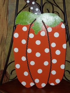 Wooden Fall Pumpkin Door Hanger by ThePaisleyPersimmon on Etsy, $50.00