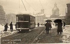 GENOVA - Nevicata dell'11 febbraio 1909 - FOTO STORICHE CARTOLINE ANTICHE E RICORDI DELLA LIGURIA