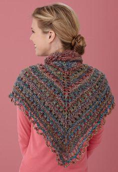 Splendid Triangle Knit Shawl Pattern