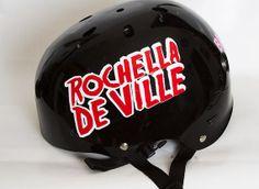 Custom vinyl helmet decal.