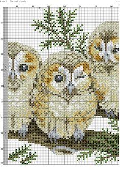Photo Cross Stitch Owl, Cross Stitch Pillow, Cross Stitch Alphabet, Cross Stitch Animals, Counted Cross Stitch Patterns, Cross Stitch Charts, Cross Stitch Designs, Cross Stitching, Cross Stitch Embroidery