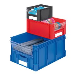 Pick and View Euro Containers Small Parts Storage, Shelving Systems, Industrial Shelving, Storage Design, Workplace, Toy Chest, Storage Chest, Lockers, Catalog