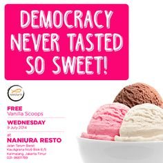 Free Ice Cream Ladies and gentleman! Vote your president and enjoy the ice cream
