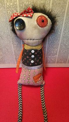 Sally Handmade Art Doll por SewZany en Etsy