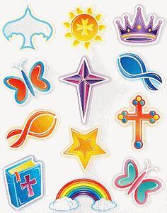Christian Symbols Stickers