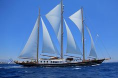 Fleurtje  Cabins: 6 Length: 187 feet Maximum speed: 11 knots From $12,700 per week  PEDIGREE: Built in 1960, this traditional three-mast schooner has been renovated, refitted and redesigned throughout the years, and today IT serves as one of the finest examples of mid-20th-century naval architecture and design. Devised by architect Robert Clark and constructed at the NV Amsterdamsche Scheepswerf shipyard in the Netherlands, the boat features elegant interiors by designer Leila Kennedy.