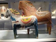 The exhibition of Dala horses in Dalarnas Museum in Falun | by Feltangel