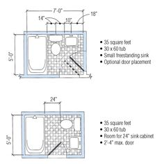 5x7 Bathroom Layout Google Search
