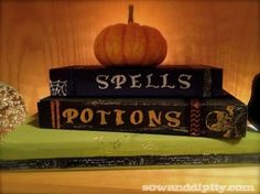 DIY Spooky Books from recycled scrap lumber #halloween