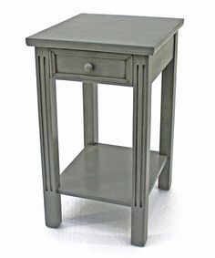 Teton Home Grey Wood Accent Table   Overstock™ Shopping   The Best Prices  On Coffee, Sofa U0026 End Tables