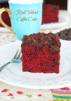 INCREDIBLE Red Velvet Coffee Cake with Streusel Topping