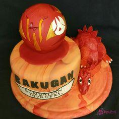 Bakugan Torte...ein Chiffonbiskuit mit Schokocreme