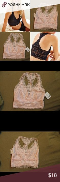 NWT UO BRALETTE This blush lace bralette is new with tags. Urban sizing is weird, it is a small, but does NOT fit big busts. Racerback. Urban Outfitters Intimates & Sleepwear Bras