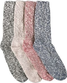 Wigwam Cotton Blend Socks: If you love ragg wool socks, but find them a bit too itchy for comfort, then these cotton-rich socks are for you.