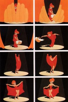 Red Hot Riding Hood | Frames from the 35mm film of Red Hot Riding Hood. Photo credit: John ...