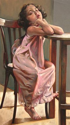 """Little Butterfly"" - Francesca Strino, oil on canvas {figurative art female seated young girl painting #loveart}"