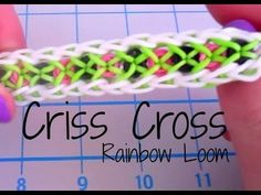 Criss Cross Rainbow Loom Bracelet