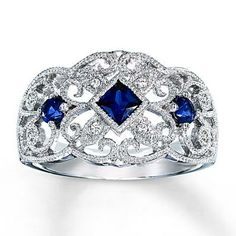 Kay Jewelers  | More here: http://mylusciouslife.com/diamond-and-sapphire-ring-buy-online/