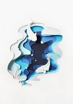 Cut Paper Art Projects Papercraft 58 Ideas For 2019 Kirigami, Paper Artwork, 3d Paper Art, Paper Cut Out Art, Paper Cutting Art, Paper Cut Outs, 3d Art, Modelos 3d, Art Plastique