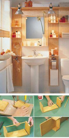 22 Genius Apartment Storage Organization Ideas You Must Try, – Diy Bathroom İdeas Space Saving Bathroom, Small Bathroom Storage, Diy Bathroom Decor, Bathroom Styling, Bathroom Furniture, Diy Furniture, Diy Home Decor, Bathroom Ideas, Bathroom Organization
