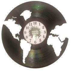 Ceas disc vinil handmade - MUSIC WORLD