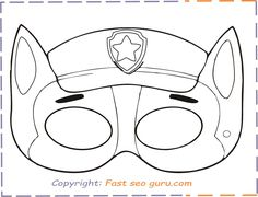 Print out paw patrol chase mask Printable Masks, Paper Dolls Printable, Party Printables, Free Printable, Paw Patrol Masks, Animal Mask Templates, Paw Patrol Party Favors, Paw Patrol Coloring Pages, Paw Patrol Birthday