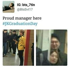 Awww Omg that's so cute ... Even the manager is as sweet and lovable as Bangtan