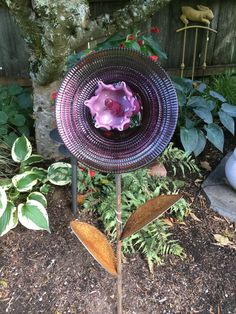 Glass Garden Flowers, All Flowers, Thrifting, Repurposed, Recycling, Bird, Create, Outdoor Decor, Home Decor