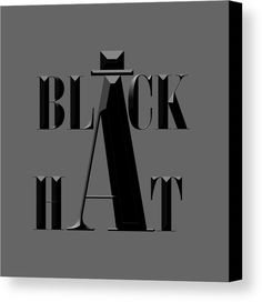 Black Hat Canvas Print by Bill Owen.  All canvas prints are professionally printed, assembled, and shipped within 3 - 4 business days and delivered ready-to-hang on your wall. Choose from multiple print sizes, border colors, and canvas materials.