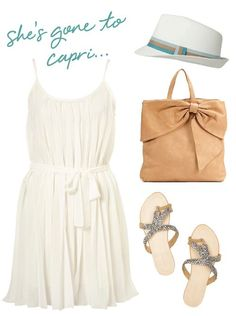casual, classic beach attire (minus the hat, for me) Summer Fashion Outfits, Cute Summer Outfits, Summer Wear, Spring Summer Fashion, Cute Outfits, Style Summer, Summer Clothes, Vacation Fashion, Beach Clothes