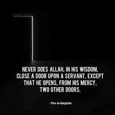 Ya Allah open new doors of righteousness for all Muslims around the world....    Ameen