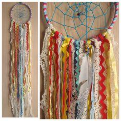 Bohemian Spirit Vintage Lace Trim Dreamcatcher by kmichel on Etsy