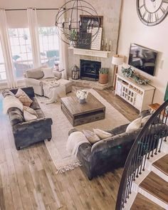 House Design, Farm House Living Room, Home, Living Room Decor Apartment, Home Remodeling, Family Living Rooms, New Living Room, Interior Design, Living Decor