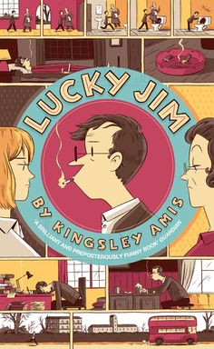 """Why is Luke Pearson so awesome? Here's his cover for """"Lucky Jim"""" which is part of the Penguin Essentials book series."""