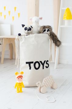Adorable toy storage bags by Tellkiddo and available at @bobbyrabbitkids , including Bear, Sleeping Bear, Toys and ABC designs. Perfect for the modern home!