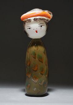 "Glass Kokeshi ""Fall"" David & Kazumi Svenson"
