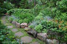 Mökkipuutarhassa: kesäkuuta 2015 Garden Inspiration, Ideas Para, Stepping Stones, Outdoor Decor, Home Decor, Gardens, Homemade Home Decor, Interior Design, Home Interiors
