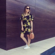 Lu Ferreira De vestido soltinho pra encarar os tratamentos de ontem no @spalotusbh ☺️ Vestido Farm, t