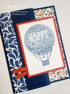 Z-Fold Card made with Celebrate Today stamp set and Birthday Bash designer paper… #stampyourartout #stampinup - Stampin' Up!® - Stamp Your Art Out! www.stampyourartout.com