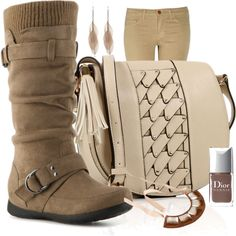 - boots and bag -