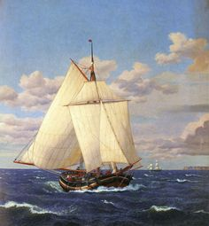 A danish Yacht passing Stevns