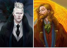 "Gellert Grindelwald & Albus Dumbledore at the time of ""Fantastic Beasts and Where to Find Them"". pankoshak"