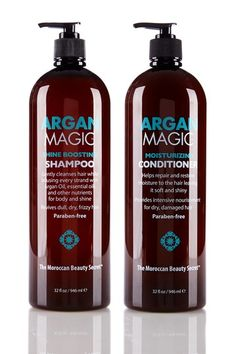 Argan Magic Shampoo & Conditioner Mega Pack by Argan Magic Hair.  I've been using this for a couple of weeks and it's REALLY helping my menopausal dry hair!!!