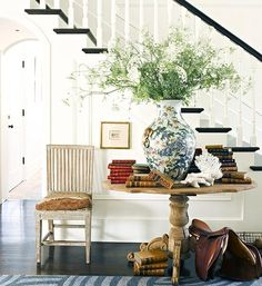 joy of nesting: The Well Stocked Home Round Entry Table, Entry Tables, Sofa Tables, New Orleans, Manufactured Home Remodel, Foyer Decorating, Decorating Ideas, Decor Ideas, Planner