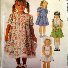McCALLS SEWING PATTERN - 8637 TODDLER GIRLS 2,3,4 HI-WAIST DRESS